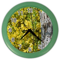 Yellow Bells Colored Wall Clock