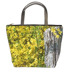 Yellow Bells Bucket Handbag