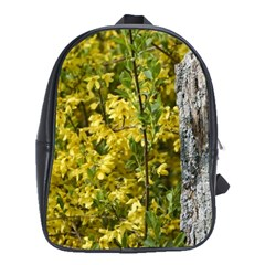 Yellow Bells Large School Backpack