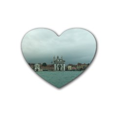 Venice 4 Pack Rubber Drinks Coaster (Heart)