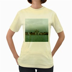 Venice Yellow Womens  T Shirt