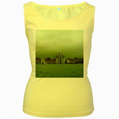 Venice Yellow Womens  Tank Top