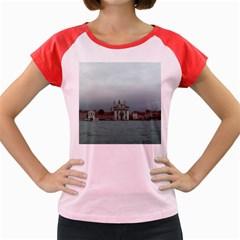 Venice Colored Cap Sleeve Raglan Womens  T-shirt