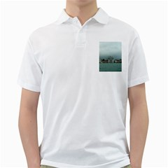 Venice White Mens  Polo Shirt