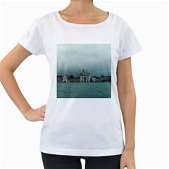 Venice White Oversized Womens'' T-shirt