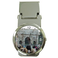 Rome Chrome Money Clip With Watch