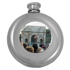 Rome Hip Flask (Round)