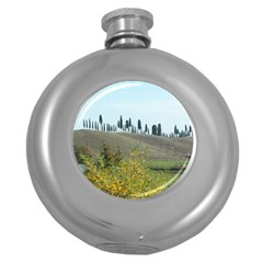 Italy Trip 1 149 Hip Flask (Round)