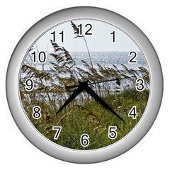 Cocoa Beach, Fl Silver Wall Clock