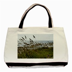 Cocoa Beach, Fl Twin Sided Black Tote Bag