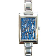 Trees on Blue Sky Classic Elegant Ladies Watch (Rectangle)