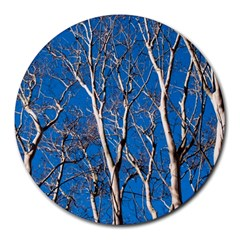 Trees on Blue Sky 8  Mouse Pad (Round)