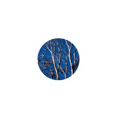 Trees On Blue Sky Mini Magnet (round)