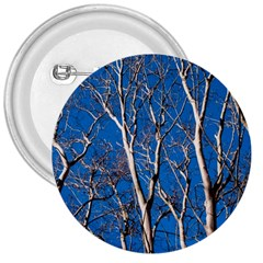 Trees On Blue Sky Large Button (round)