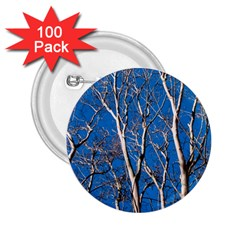 Trees on Blue Sky 100 Pack Regular Button (Round)
