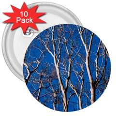 Trees on Blue Sky 10 Pack Large Button (Round)