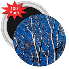 Trees on Blue Sky 100 Pack Large Magnet (Round)