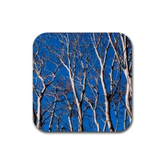 Trees on Blue Sky 4 Pack Rubber Drinks Coaster (Square)