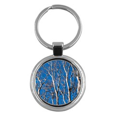 Trees on Blue Sky Key Chain (Round)