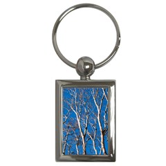 Trees on Blue Sky Key Chain (Rectangle)
