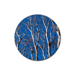 Trees on Blue Sky Rubber Drinks Coaster (Round)