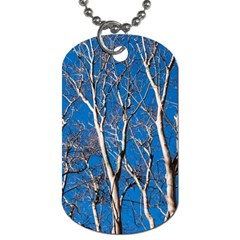 Trees On Blue Sky Twin Sided Dog Tag