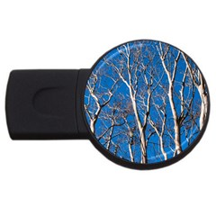 Trees on Blue Sky 1Gb USB Flash Drive (Round)