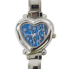 Trees On Blue Sky Classic Elegant Ladies Watch (heart)