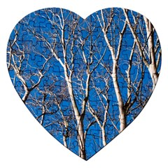 Trees on Blue Sky Jigsaw Puzzle (Heart)