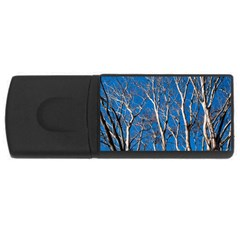 Trees On Blue Sky 4gb Usb Flash Drive (rectangle)