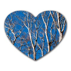 Trees on Blue Sky Mouse Pad (Heart)