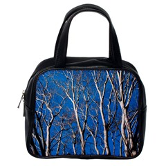 Trees On Blue Sky Single Sided Satchel Handbag