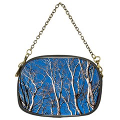 Trees on Blue Sky Single-sided Evening Purse