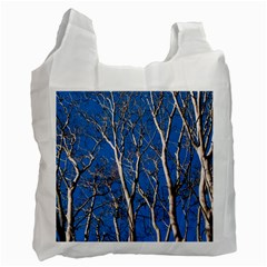 Trees on Blue Sky Single-sided Reusable Shopping Bag