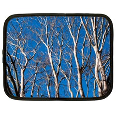 Trees on Blue Sky 15  Netbook Case