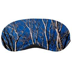 Trees on Blue Sky Sleep Eye Mask