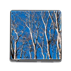 Trees on Blue Sky Card Reader with Storage (Square)