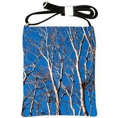 Trees on Blue Sky Cross Shoulder Sling Bag