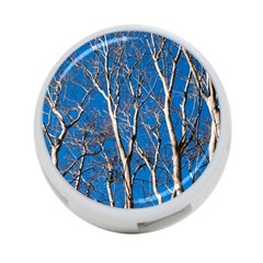 Trees on Blue Sky Twin-sided 4 Port USB Hub (Round)