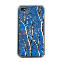 Trees On Blue Sky Apple Iphone 4 Case (clear)