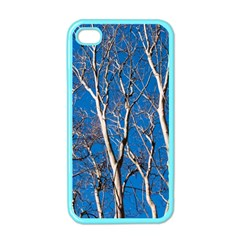 Trees On Blue Sky Apple Iphone 4 Case (color)