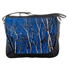 Trees On Blue Sky Messenger Bag