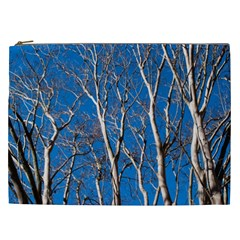 Trees on Blue Sky Cosmetic Bag (XXL)