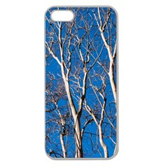 Trees on Blue Sky Apple Seamless iPhone 5 Case (Clear)