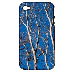 Trees on Blue Sky Apple iPhone 4/4S Hardshell Case (PC+Silicone)