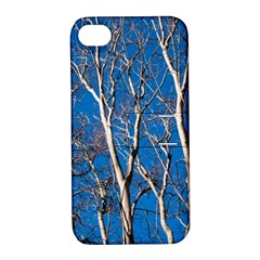 Trees On Blue Sky Apple Iphone 4/4s Hardshell Case With Stand