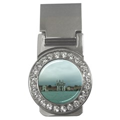 Venice Money Clip with Gemstones (Round)