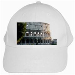 Roman Colisseum 2 White Baseball Cap