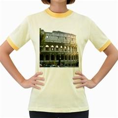 Roman Colisseum 2 Colored Ringer Womens  T-shirt