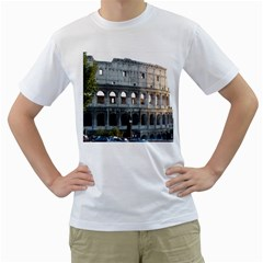 Roman Colisseum 2 White Mens  T-shirt